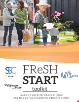 PDF Thumbnail for FReSH Start Toolkit: Fracture Recovery for Seniors at Home - A hip fracture recover guide for patients & families