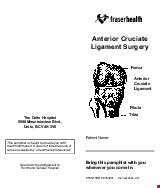 PDF Thumbnail for Anterior Cruciate Ligament Surgery