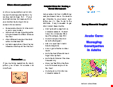 PDF Thumbnail for Acute Care: Managing Constipation in Adults
