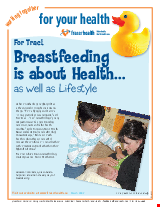PDF Thumbnail for Breastfeeding is about Health (colour)