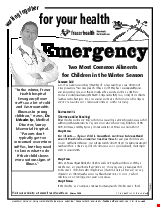 PDF Thumbnail for Emergency: Two Most Common Ailments for Children in the Winter Season
