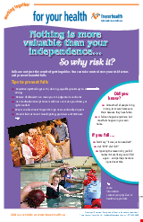 PDF Thumbnail for Falls Prevention - Poster