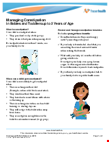 PDF Thumbnail for Managing Constipation in Babies and Toddlers up to 2 Years of Age
