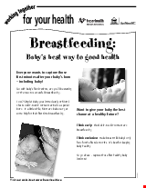 PDF Thumbnail for Breastfeeding - Baby's Best Way to Good Health