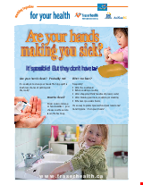 PDF Thumbnail for Are Your Hands Making You Sick? (Small Poster)
