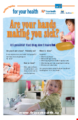 PDF Thumbnail for Are Your Hands Making You Sick? (Large Poster)
