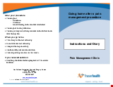 PDF Thumbnail for Instructions & Diary After a Pain Management Treatment