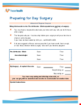 PDF Thumbnail for Preparing for Day Surgery