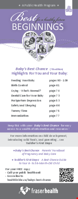 PDF Thumbnail for Best Beginnings: Highlights For You and Your Baby Bookmark