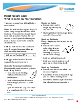PDF Thumbnail for Heart Failure Care: What to do for my heart condition