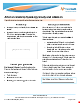 PDF Thumbnail for After an Electrophysiology Study and Ablation - Cardiac Catheterization Lab