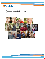 PDF Thumbnail for Funded Assisted Living Handbook