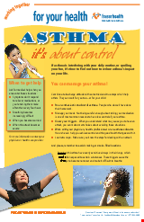 PDF Thumbnail for Asthma - It's About Control (Large Poster)
