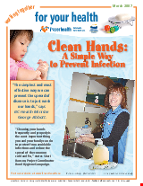 PDF Thumbnail for Clean Hands - A Simple Way to Prevent Infection (Small Poster)