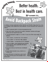 PDF Thumbnail for Avoid Backpack Strain - B&W