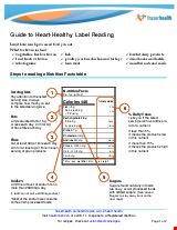 PDF Thumbnail for Guide to Heart-Healthy Label Reading