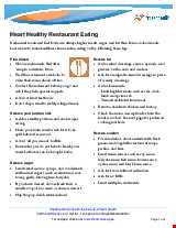 PDF Thumbnail for Heart Healthy Restaurant Eating