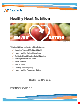 PDF Thumbnail for Heart Healthy Nutrition