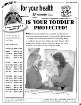 PDF Thumbnail for Is Your Toddler Protected? (B&W)