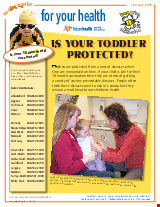 PDF Thumbnail for Is Your Toddler Protected? (colour)