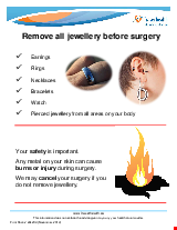 PDF Thumbnail for Remove all jewellery before surgery