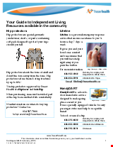 PDF Thumbnail for Your Guide to Independent Living - Resources available in the community