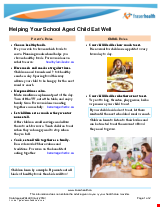 PDF Thumbnail for Helping your School Aged Child Eat Well