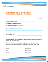 PDF Thumbnail for Welcome to the Hospital - Care Journal for Patients and Families