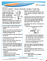PDF Thumbnail for Urinary Catheter - Using a Separate Leg Bag + Night Bag