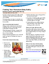 PDF Thumbnail for Feeding Your Premature Baby Safely