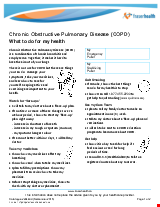 PDF Thumbnail for COPD What to do for my health