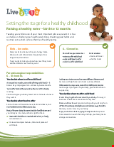 PDF Thumbnail for Live 5-2-1-0 Setting the stage for a healthy childhood Raising a healthy eater - birth to 12 months