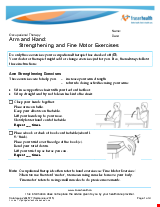PDF Thumbnail for Arm and Hand: Strengthening and Fine Motor Exercises