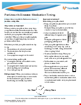 PDF Thumbnail for Parkinson's Disease: Medication Timing