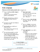 PDF Thumbnail for Early Language - When your child is making sounds and using gestures