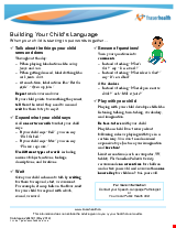 PDF Thumbnail for Building Your Child's Language - When your child is starting to put words together....
