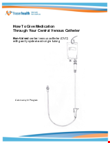 PDF Thumbnail for How to Give Medication Through Your Central Venous Catheter (NON-Valved) with Gravity System and Single Tubing