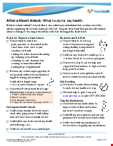 PDF Thumbnail for After a Heart Attack: What to do for my health