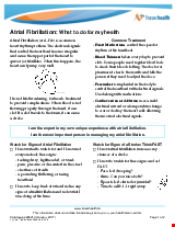 PDF Thumbnail for Atrial Fibrillation: What to do for my health
