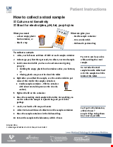 PDF Thumbnail for How to Collect a Stool Sample - Culture and Sensitivity, Stool for electrolytes, pH, fat, porphryins