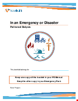 PDF Thumbnail for In an Emergency or Disaster - Peritoneal Dialysis