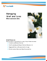 PDF Thumbnail for Grief and Loss: When someone dies in the hospital