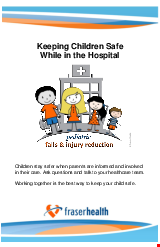 PDF Thumbnail for Keeping Children Safe While in the Hospital
