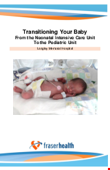 PDF Thumbnail for Transitioning Your Baby From the Neonatal Intensive Care Unit To the Pediatric Unit
