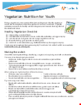 PDF Thumbnail for Vegetarian Nutrition for Youth