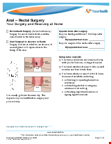 PDF Thumbnail for Anal – Rectal Surgery Your Surgery and Recovery at Home