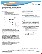 PDF Thumbnail for Laparoscopic Hernia Repair - Your Surgery and Recovery at Home