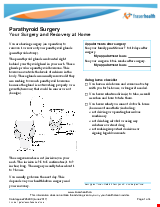 PDF Thumbnail for Parathyroid Surgery - Your Surgery and Recovery at Home