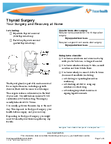 PDF Thumbnail for Thyroid Surgery - Your Surgery and Recovery at Home