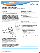 PDF Thumbnail for Cervical Spine Surgery Your Day Surgery and Recovery at Home